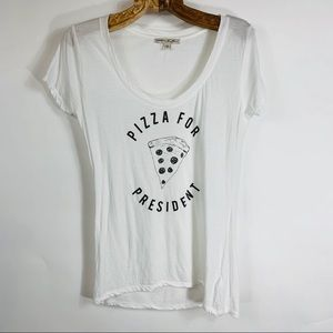Express Graphic T Shirt Pizza for President Small